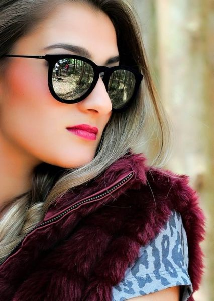 Óculos De Sol Ray Ban Fem Erika Velvet Veludo Espelhado - Pymenta ... 873f4b7509567